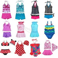 Girls Swimwear Tankini Set Halter Bikini Swimsuit Shorts Bathing Suit Beachwear