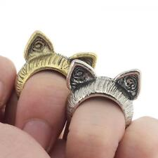 Gift Cute Unisex Jewelry Vintage Silver Bronze Cat Ears Ring