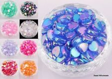 Wholesale 60Pcs AB Color Heart Shaped Acrylic Spacer Beads  for DIY Jewelry 9mm