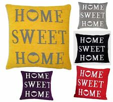 Home Sweet Home Cotton Chenille Scatter Decorative Cushion Cover Trendy Colours