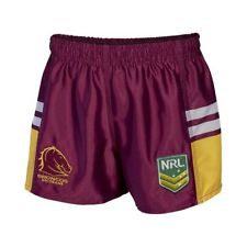 BRISBANE BRONCOS NRL 2017 CLASSIC SPORTSWEAR MENS ADULT SUPPORTER SHORTS