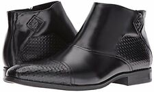 Stacy Adams Men's Faramond Modified Cap Toe Black Leather Chelsea Boot 25077-001