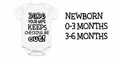 Baby Grow Child Short Sleeve Bodysuit Customised Funny Text Unisex Various Sizes