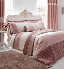 Catherine Lansfield Gatsby Pink Luxury Duvet / Quilt Cover Bedding Set