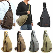 Men Small Canvas Military Messenger Shoulder Travel Hiking Cycling Bag Backpack