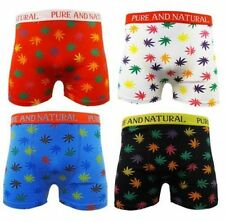 MEN'S 6 PAIRS DESIGNER BOXER SHORTS UNDERWEAR LEAF DESIGN COTTON LYCRA S-XL