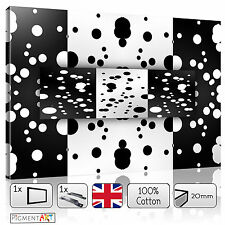 LARGE BLACK AND WHITE ABSTRACT MODERN STRETCHED CANVAS WALL ART PRINTS PICTURES