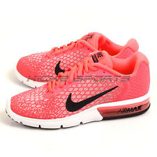 Nike Wmns Air Max Sequent 2 Hot Punch/Black-Wolf Grey Running Shoes 852465-600