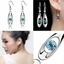 Fashion Hook Water Dangle Hook Earring Crystal Jewelry Women Earrings