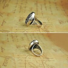 Vintage Rhinestone Crystal High-quality Charming Jewelry Resin Music Note Ring