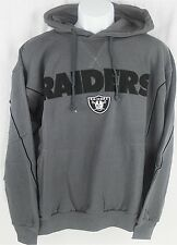Oakland Raiders NFL Mens Charcoal Pullover Hoodie Size 2XT