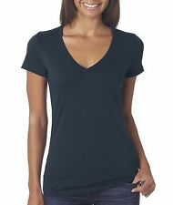 Bella + Canvas Tee Shirt 6035 Ladies' Jersey Deep V-Neck Basic