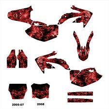 2005 2006 2007 2008 CRF450R CRF 450 450R graphics deco kit #9500 Red