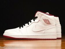 NIKE AIR JORDAN 1 MID Retro White Gym Red Black 554724-103 Mens 8 9 11.5 12