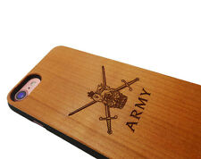 BRITISH ARMY IPHONE 7 CASE Wood Wooden Custom Engraved Personalised Military