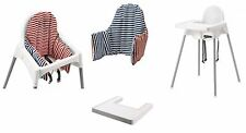 IKEA ANTILOP BABY HIGH CHAIR WHITE PLASTIC,OPTIONAL TRAY AND CUSHION AVAILABLE