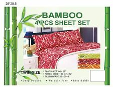 New Bamboo Deep Pocket Breathable 4Pc Sheet Set Full Twin Queen King Multicolor