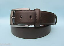 Mens Dress Brown Real Leather Belt