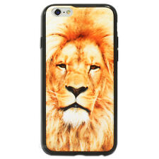 Lion Printed Hard Back Case for Apple iPhone 5 5S SE 5C 6 6S Plus + Cover