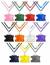Safety Neck Strap Lanyard with Rigid Badge ID Card Holder Choose Your Colour lot