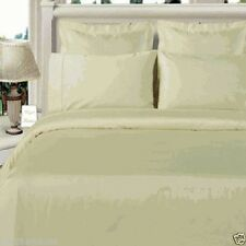 4pc Luxury Viscose from Bamboo Ivory Duvet Cover Bedding Set AND White Comforter