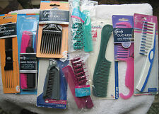 Goody Hair Comb Brush Set Combination Lift Pick Detangling Shower Styling Travel