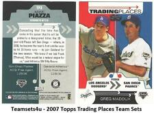 2007 Topps Trading Places Baseball Set  ** Pick your Team **