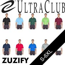 UltraClub Mens Cool and Dry Mesh Pique Polo Shirt. 8210