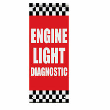 Engine Light Diagnostic Auto Body Shop Car Double Sided Pole Banner Sign