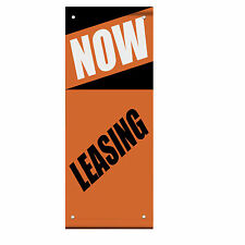 Now Leasing Business Double Sided Vertical Pole Banner Sign