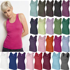 Bella Ladies Baby Rib Cotton Tank Top Womens Top Tee S M L XL 2XL 1080