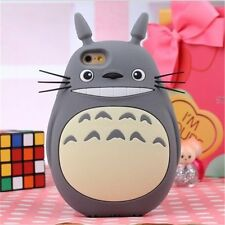 3D Cute Cartoon Totoro Designed Soft Silicone Case for iphone 4 5 6/6s 4.7 Plus