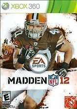 MADDEN NFL 12, Microsoft Xbox 360 (2012) New Factory Sealed