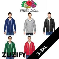 Fruit of the Loom Full-Zip Hooded T-Shirt. SF60R
