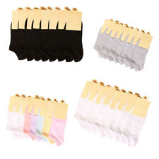 AU 8 Pairs Women Girl Short Ankle Cotton Sock Candy Color Casual Low Cut Socks
