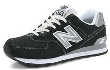 New Balance ML574KWS Black Suede Trainers Classic Running Shoes Mens Womens
