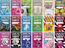 Pack of 24 - Thank You For Coming To My Party Gift Cards - Personalised Fillers