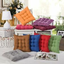 New Colorful Seat Pad Dining Room Kitchen Garden Soft Chair Cushions With Tie on