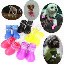 Cute Pet Dog Waterproof Rain Boots Puppy Anti-slip Rubber Shoes Booties S-2XL