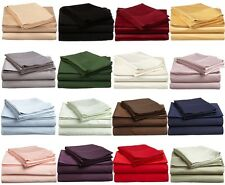 EGYPTIAN QUALITY 1800 SERIES DEEP POCKET BRUSHED SHEET SET 4PC SOLID COLOR QUEEN