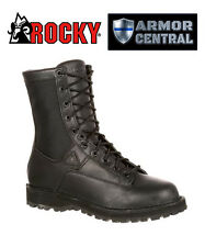NEW Rocky Men's Black Tactical Portland Lace-to-Toe Waterproof Duty Boots - 2080
