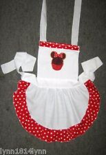 GIRLS MINNI MOUSE CUPCAKE APRON up to 12 year Avaiable most colors Made 2 order