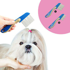 Pet Dog Puppy Cat Flea Comb Trimmer Grooming Tool Cleaning Brush Hair Shedding