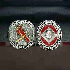 2pcs 1964 2011 St Louis Cardinals World Series Championship Solid Alloy Ring 11S