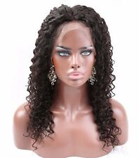 360 Full Lace Frontal Closure Around Curly Brazilian Remy Human Hair Black