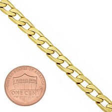 6mm 14k Gold Plated Beveled Cuban Link Curb Chain