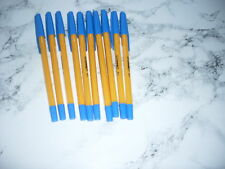 10 BLUE INK FINE POINT POINT Q CONNECT BALL POINT PENS
