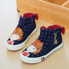 2017 Children Shoes Girls Canvas Shoes Sport Sneakers Kids Shoes for Girls Boots