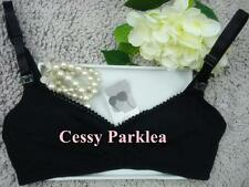 """ H & H"" Black Wire-free Non-padded Cotton Maternity Bras  AU"