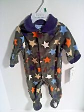 Carter's Boys One Piece Fleece Outfit Sleeper Stars Olive Green 0-3 3-6 6-9 Mos